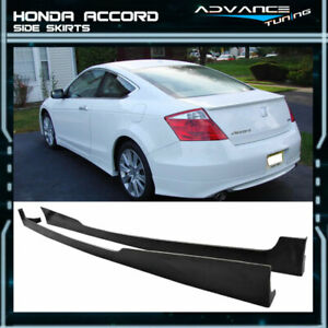 For 08 10 Honda Accord Coupe 2door Side Skirts Lip Pu Urethane