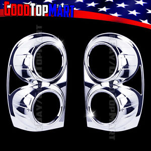 For Jeep Liberty 2002 2003 2004 2005 2006 07 Chrome Tail Light Taillight Cover