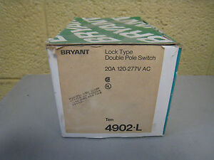 New Bryant 4902 l 20a 120 277v Lock Type Locking Toggle Switch Box Of 10