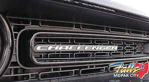 2015 2020 Dodge Challenger Nameplate Clip On Grille Badge Emblem Medallion Mopar