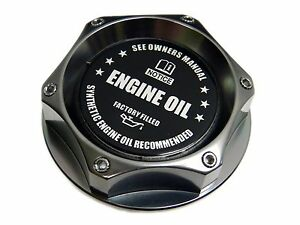 Gunmetal Synthetic Oil Billet Cnc Engine Oil Filler Cap Dodge Vehicles Bk