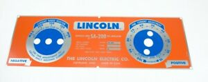 Lincoln Sa 200 Red blue Nameplate M8803 Bw680