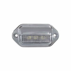 Led License Plate Tag Light Interior Step Lamp Chrome For Boat Rv Trailer Dot
