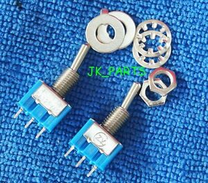 10pcs New Mini Mts 102 3 pin Spdt On on 6a 125vac Toggle Switches