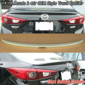 Factory Style Trunk Spoiler Wing Abs Fits 14 18 Mazda 3 4dr