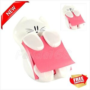 Post it Pop up Note Dispenser Desk Cat Note Student Storage Office School Work