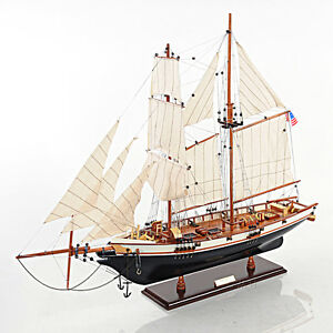 1847 Harvey Baltimore Clipper Wooden Model Tall Ship 35 Built Sailboat New
