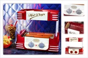 Commercial Hot Dog Roller Grill Sausages Cooker Electric Warmer Machine Small
