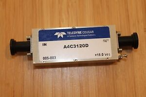 Teledyne Cougar Sma 10 Mhz To 3000 Mhz Amplifier 30 Db Gain 21 Dbm Out A4c3120d