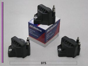 Set Of 3 New A c Delco Ignition Coil D555 dr39 10472401 bs3006