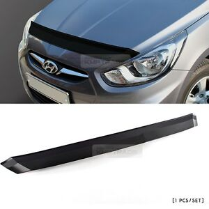 Front Black Bonnet Hood Guard Garnish For Hyundai 2011 2016 Solaris Accent Verna