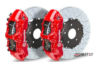 Brembo Front Gt Brake Bbk 6 Piston Red Caliper 350x34 Type3 Disc Audi S3 15