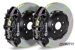 Brembo Front Gt Brake Bbk 6 Piston Black Caliper 380x34 Slot Rotor Audi S3 15