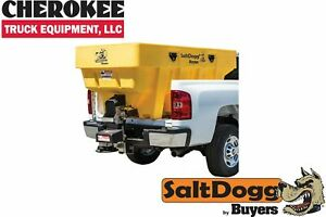 Saltdogg buyers Products Shpe2000yel Bulk Salt 50 50 Salt sand Mix Spreader Yel