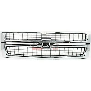 Grille Black With Chrome Frame Fits 2007 10 Chevrolet Silverado 2500 Hd 25825521