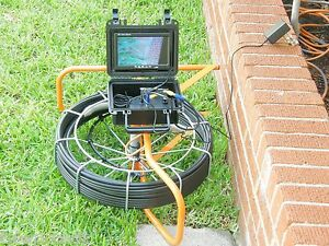 100 Foot Pipe Inspection Camera Sewer Main Inspection 100 Ft Video Scope