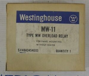 Westinghouse Mw 11 Overload Relay For Panel Mounting W out Heater New