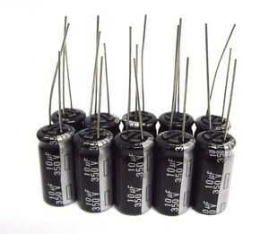 10uf 350v 10x Electrolytic Capacitors 350v 10uf Volume 10x20 Mm