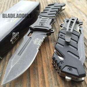 8quot; BALLISTIC MILITARY Tactical Combat Spring Assisted Open Pocket Rescue Knife B $13.95