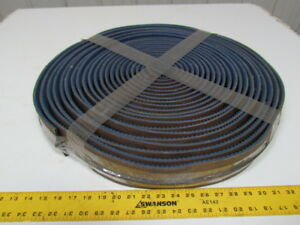 Blue Rough Top Center V guide Conveyor Belt 3 Wide 64ft Long 5 16 Thick