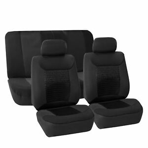 Gray Black Seat Covers Full Interior Set Universal Fitment For Car Suv Van Black