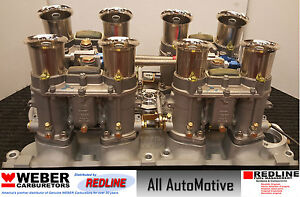 Ford 429 460 Weber 48ida Kit W Manifold Linkage 4 Genuine 48 Ida Webers