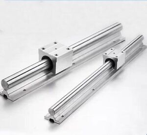 2x Sbr12 200mm 12mm Fully Supported Linear Rail Shaft Rod 4 Sbr12uu Block