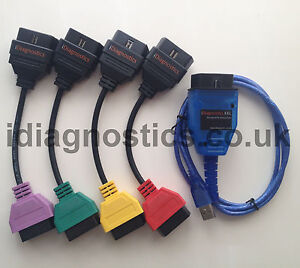 Fiat Punto Diagnostic Lead Cable Kkl Uk Airbag Engine Pas Multiecuscan
