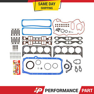 Full Gasket Set Head Bolts For 96 00 Cadillac Gmc Chevrolet 5 7l Ohv Vortec
