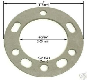 4 Pc Chevy Wheel Spacers 6 Lug X 5 50 Or 139 7 1 4 Inch Thick Part Ap 603