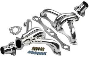 Block Hugger Shorty Ceramic Hot Coated Headers Straight Plug Sbc 262 400 1 1 2
