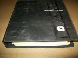 Original john Deere Waterloo Service technical Manual dealer Binder