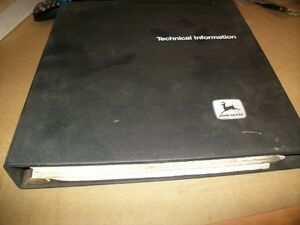 Original john Deere Walk Behind Mower technical Manual dealer Binder tm 1235