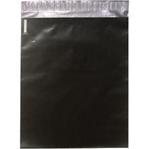 12 X 15 1 2 Black Self seal Poly Mailers Shipping Bags case Of 100