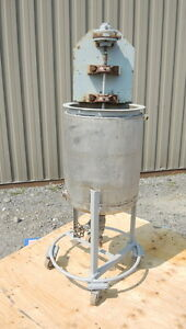 8 Gallon Stainless Steel Tank Jacketed With Air Mixer