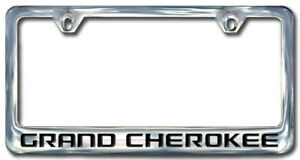 Jeep Grand Cherokee Chrome License Plate Frame Engraved Block Letters