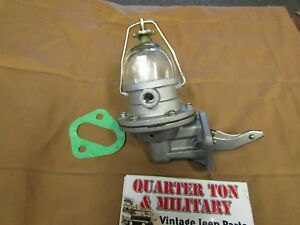Jeep Willys Mb Gpw Cj2a Cj3a Fuel Pump Glass Bowl Style