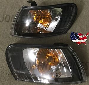 New Corner Lights Toyota Corolla 1993 1997 Ae100 Ae101 Jdm Black Pair 94 95 96