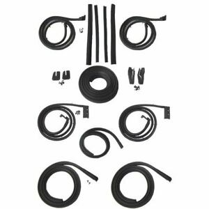 1961 1962 Cadillac Series 62 Deville 6 Window 4dr Hardtop Body Weatherstrip Kit