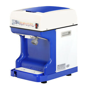 Electric Commercial Ice Shaver Crusher Shaving Maker Snow Cone Machine Device
