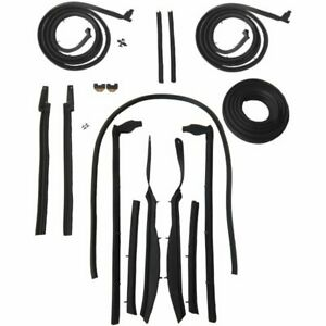 1963 1964 Buick Chevrolet Impala 2dr Convertible Body Weatherstrip Seal Kit