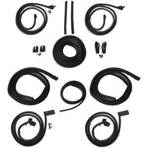 1962 Cadillac Series 62 Deville 4 Window 4d Hardtops Body Weatherstrip Seal Kit