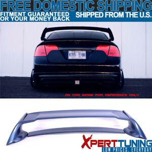 Fit For 06 11 Honda Civic 4dr Mugen Abs Trunk Spoiler Painted Atomic Blue Metal