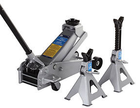 Otc 5300 3 ton Service Jack And A Pair Of 3 ton Jack Stands