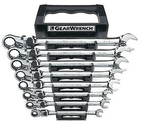 Gearwrench 85798 Sae Xl Locking Flex Combo Ratcheting Wrench Set 8 Pc