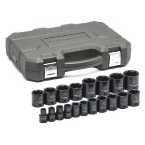 Gearwrench 84932n 19 Piece 1 2 Drive 6 Point Sae Impact Socket Set