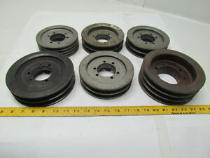 V belt Sheaves Lot Of 6 Unknown Mfg Sheaves Pulley