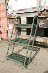 New Steel Boarding Ladder Trailer Steps Access Military Heavy Equipment 10882157