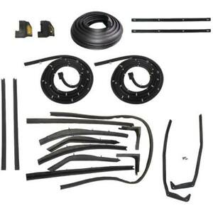 1958 Buick Limited Roadmaster 2dr Convertible Body Weatherstrip Seal Kit