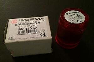 New Werma Red Led Blinking Light Module Ks50 115vac Rd 84811067 For 50mm